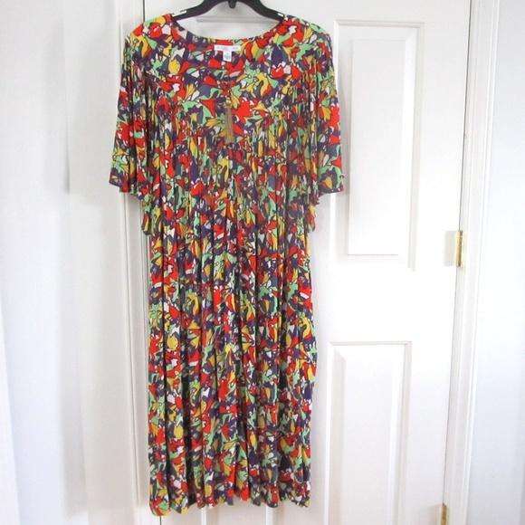 f423a338cba Go Softly Crinkle Floral Print Patio Dress 3X